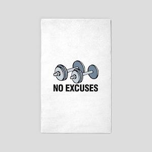 No Excuses 3'x5' Area Rug