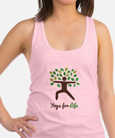 Yoga For Life Warrior Pose Tree Racerback Tank Top