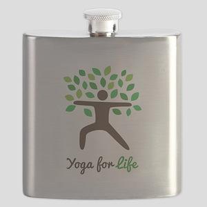 Yoga For Life Warrior Pose Tree Flask