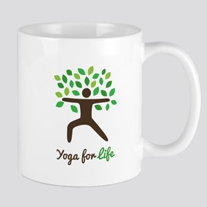 Yoga For Life Warrior Pose Tree Mugs