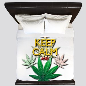 Keep Calm and Marijuana Leaf King Duvet