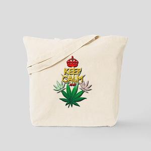 Keep Calm and Marijuana Leaf Tote Bag