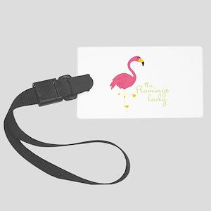 The Flamingo Lady Luggage Tag