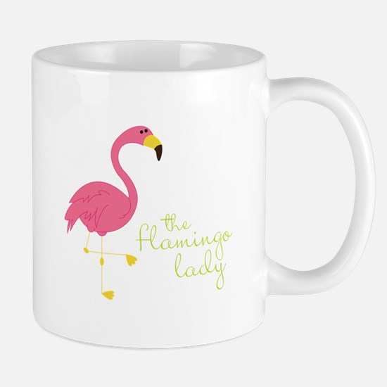 The Flamingo Lady Mugs