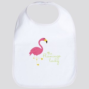 The Flamingo Lady Bib