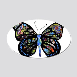 Wild Cool Butterfly 20x12 Oval Wall Decal