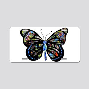 Wild Cool Butterfly Aluminum License Plate