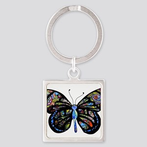 Wild Cool Butterfly Square Keychain