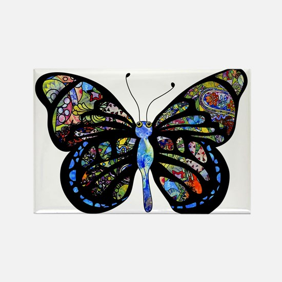 Wild Cool Butterfly Rectangle Magnet