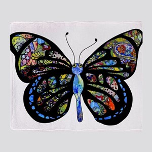 Wild Cool Butterfly Throw Blanket