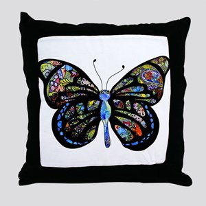 Wild Cool Butterfly Throw Pillow