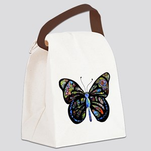 Wild Cool Butterfly Canvas Lunch Bag