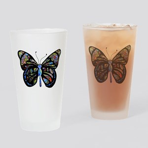 Wild Cool Butterfly Drinking Glass