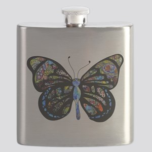 Wild Cool Butterfly Flask