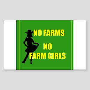 NO farms no farm girls funny woman Sticker