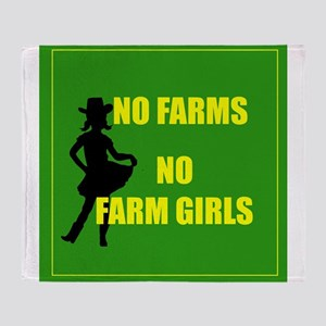 NO farms no farm girls funny woman Throw Blanket