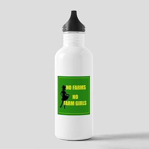 NO farms no farm girls funny woman Water Bottle