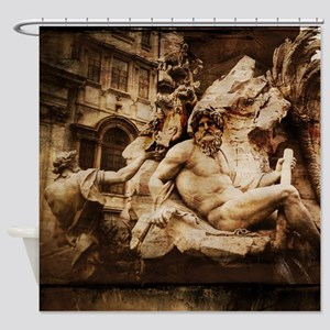 Fontana dei Quattro Fiumi Shower Curtain