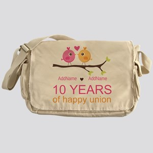 10th Anniversary Personalized Messenger Bag