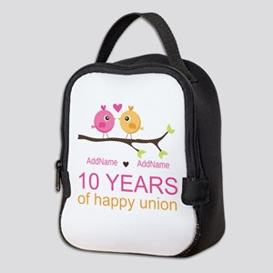 10th Anniversary Personalized Neoprene Lunch Bag