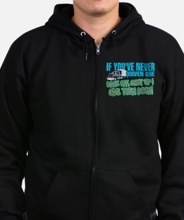 Trucker Back Off Zip Hoodie (dark)