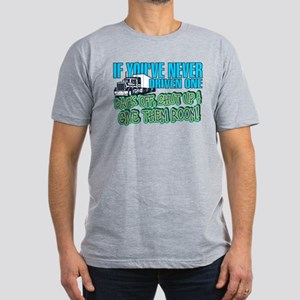 Trucker Back Off Men's Fitted T-Shirt (dark)