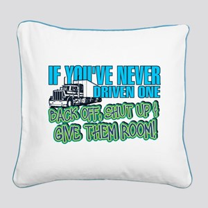 Trucker Back Off Square Canvas Pillow