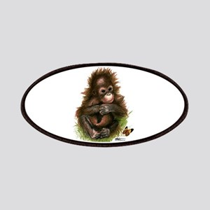 Orangutan Baby And Butterfly Patches