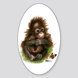 Orangutan Baby And Butterfly Sticker