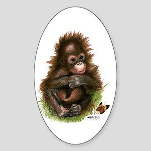 Orangutan Baby And Butterfly Sticker
