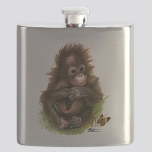 Orangutan Baby and Butterfly Flask