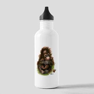 Orangutan Baby and Butterfly Water Bottle