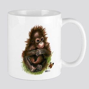 Orangutan Baby and Butterfly Mugs
