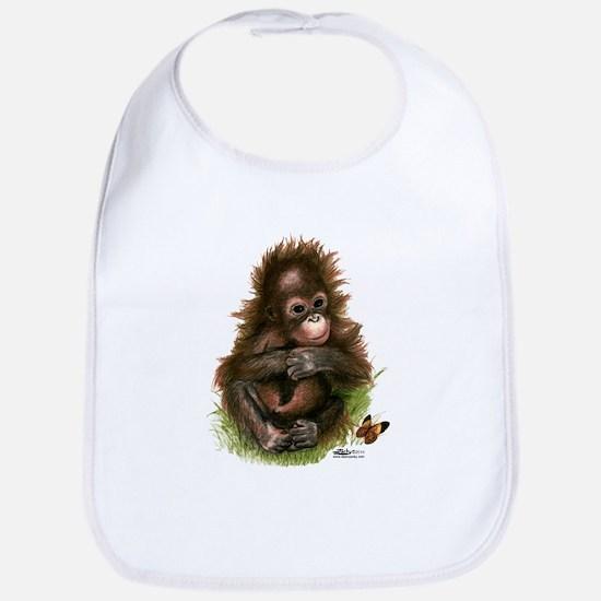 Orangutan Baby and Butterfly Bib