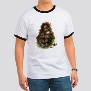 Orangutan Baby and Butterfly T-Shirt