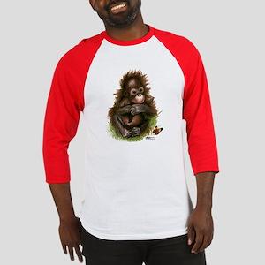 Orangutan Baby And Butterfly Baseball Jersey