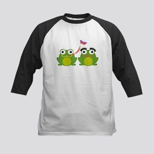 Froggy Couple Sharing a Bug Baseball Jersey