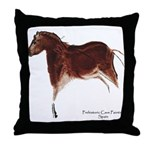 Horse Cave Painting Throw Pillow