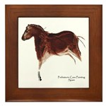 Horse Cave Painting Framed Tile