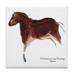 Horse Cave Painting Tile Coaster