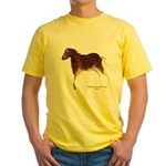 Horse Cave Painting Yellow T-Shirt