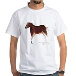 Horse Cave Painting White T-Shirt