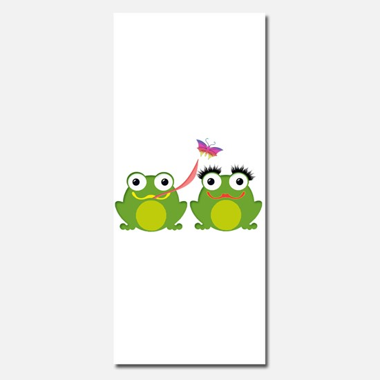 Froggy Couple Sharing a Bug Invitations
