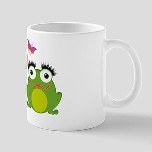 Froggy Couple Sharing a Bug Mug