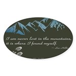 Never Lost in Mountains Sticker