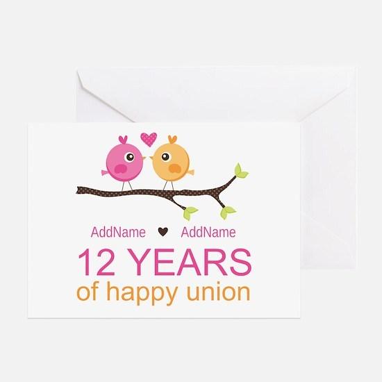 12th Wedding Anniversary Greeting Card