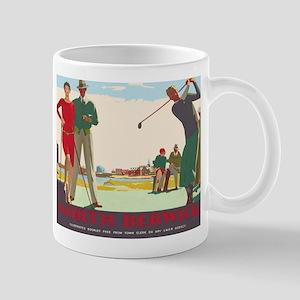 North Berwick, Golf, Vintage Poster Mugs