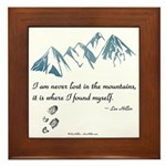 Never Lost in the Mts Framed Tile