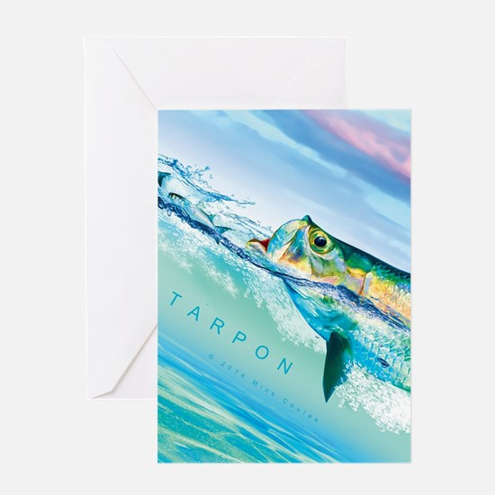 Cute Tarpon fishing Greeting Card