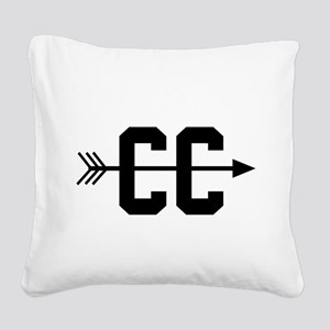 Cross Country CC Square Canvas Pillow